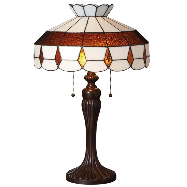 Downton Abbey Crowned Yorkshire Collection Stained Glass Table Lamp