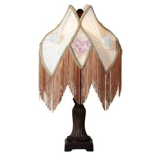 Downton Abbey Ladies of Downton Collection Pastel Floral Fringe Table Lamp
