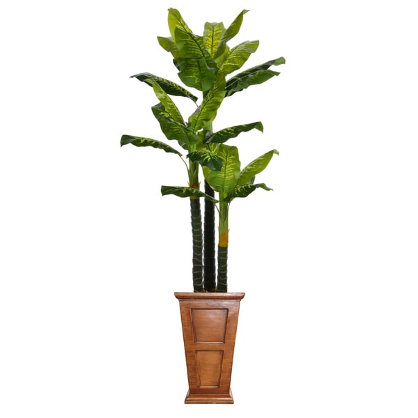 91-inch Tall Real Touch Evergreen in Planter