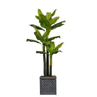 78-inch Tall Real Touch Evergreen in Planter