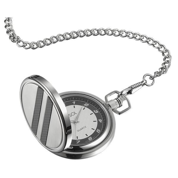 Visol Turbo White Dial Carbon Fiber Pocket Watch