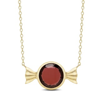 Dolce Giavonna Gold Over Sterling Silver Simulated Gemstone Candy Necklace