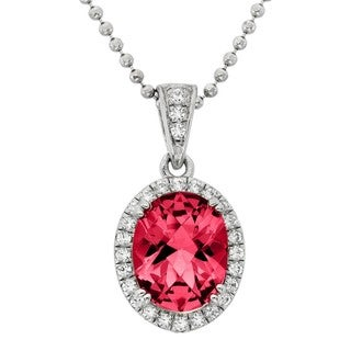 Isla Simone - Platinum Plate Sterling Silver FacetCut Pave CZ Necklace