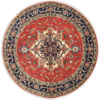 Ecarpetgallery Serapi Heritage Brown Wool Area Rug (8'0 x 8'0)