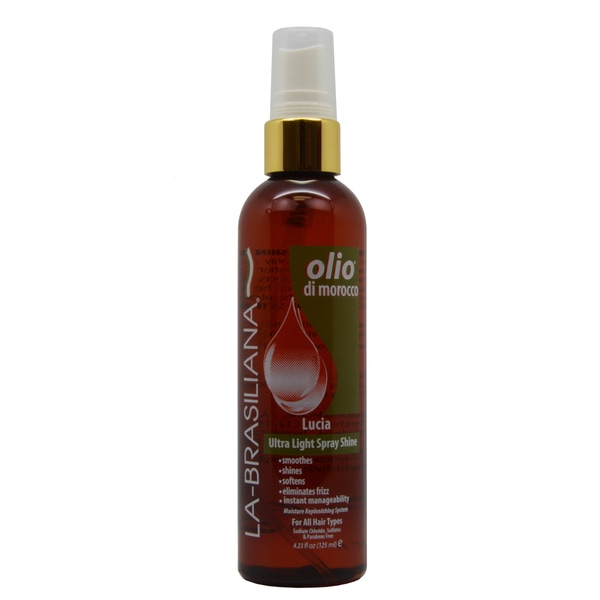 La-Brasiliana Olio Di Morocco Lucia 4.23-ounce Ultra Light Spray Shine