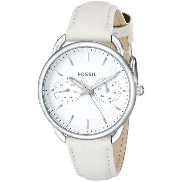 Fossil Women's ES3806 'Tailor' Multi-Function White Leather Watch