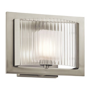 Kichler Lighting Rigate Collection 1-light Brushed Nickel Wall Sconce