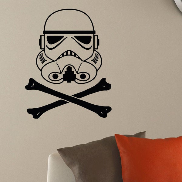 Storm Trooper Helmet Vinyl Wall Art Decal Sticker