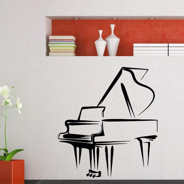 Grand Piano Vinyl Wall Art Decal Sticker