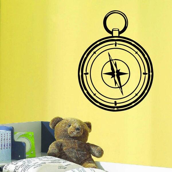 Travelling Compass Vinyl Wall Art Decal Sticker