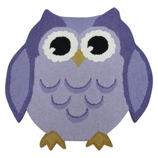Hootie Patootie Owl RugPurple (3' x 3')