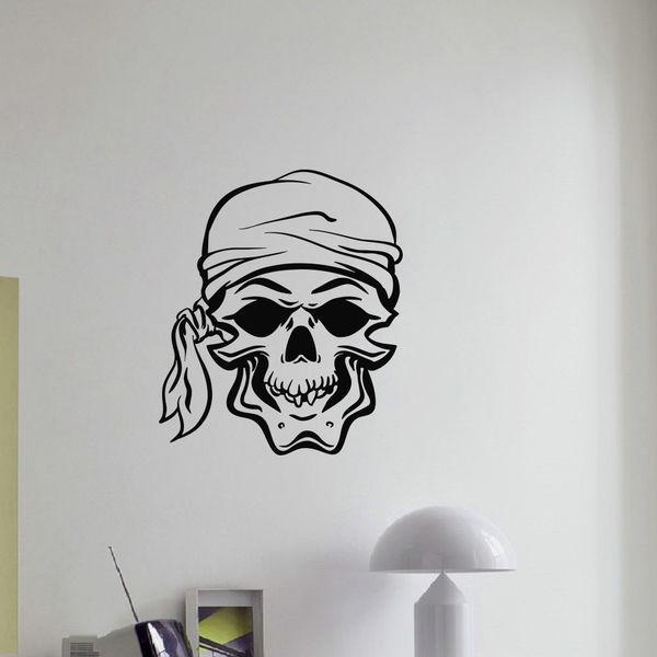 Skull Pirate Vinyl Wall Art Decal Sticker