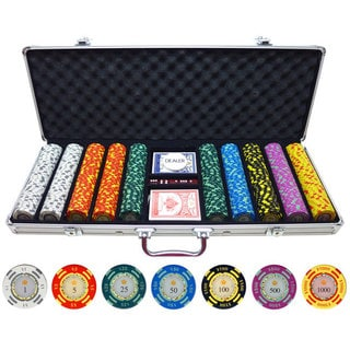 500-piece Crown Casino 13.5-gram Clay Poker Chips