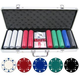 500-piece 11.5-gram Suited Poker Chip Set