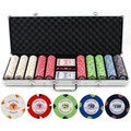 13.5-gram 500-piece Monaco Casino Clay Poker Chips Set
