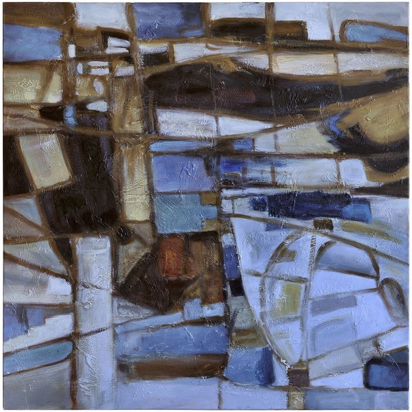 "Abstract Moncia Square Unframed Oil-painting on Canvas 40"" x 40"""