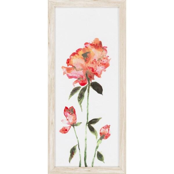 "Floral Marley Rectangular Framed Print 12"" x 26"""