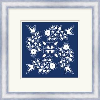 "Sheryl Square Framed Fish Print 21"" x 21"""