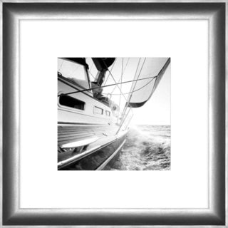 """Sailboat Carlie Square Framed Photography 24"""" x 24"""""""
