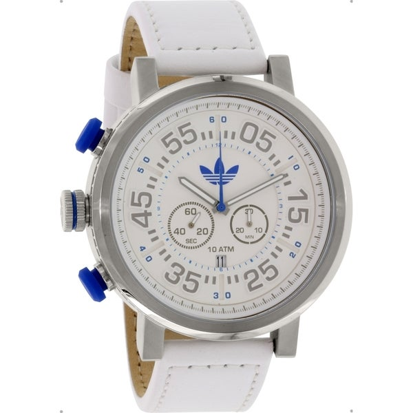 Adidas Men's Indianapolis ADH3026 White Leather Analog Quartz Watch