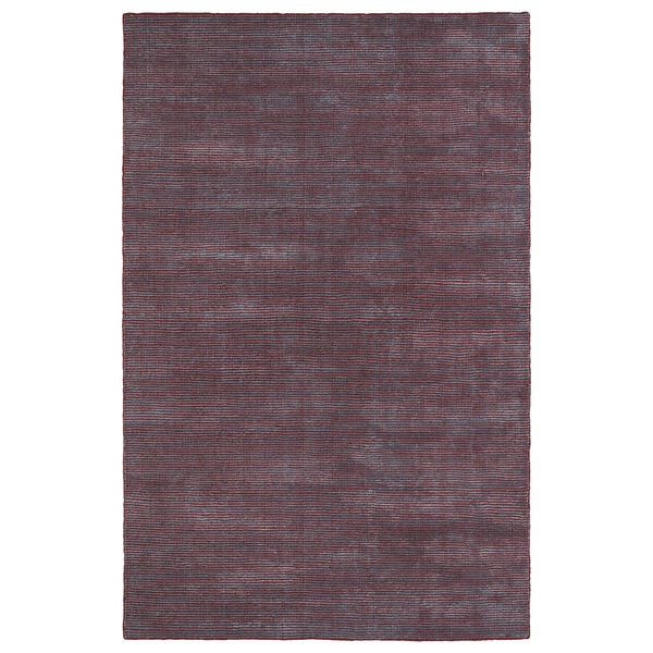 Solid Chic Red and Dark Grey Hand-Tufted Rug (2'0 x 3'0)