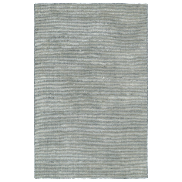 Solid Chic Slate and Beige Hand-Tufted Rug (5'0 x 7'9)