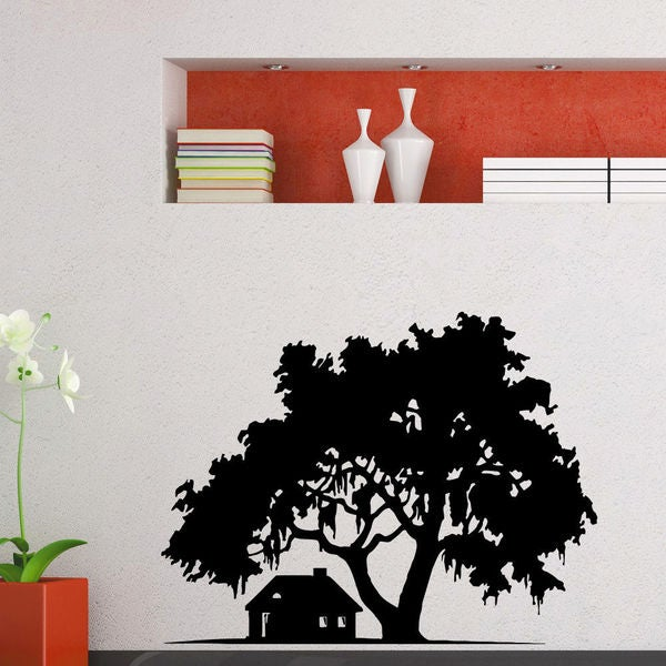 House Under The Tree Vinyl Wall Art Decal Sticker