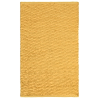 Plush Nubby Yellow 30 x 50 inch Bath Rug