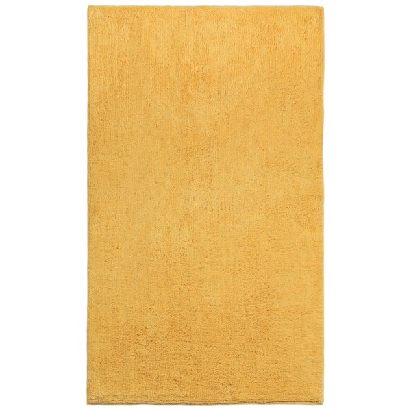 Plush Pile Yellow 30 x 50 inch Bath Rug