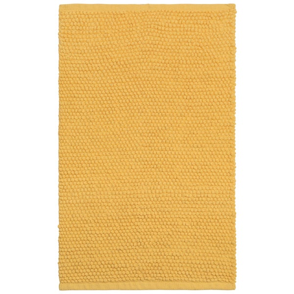 Plush Nubby Yellow 21 x 34 inch Bath Rug