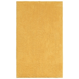Plush Pile Yellow 21 x 34 inch Bath Rug