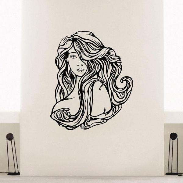 Hair Spa Beauty Decor Vinyl Wall Art Decal Sticker