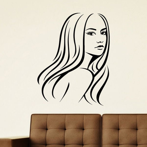 Pretty Woman Decor Vinyl Wall Art Decal Sticker