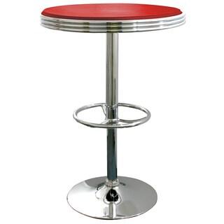 AmeriHome Red Retro Soda Shop Table