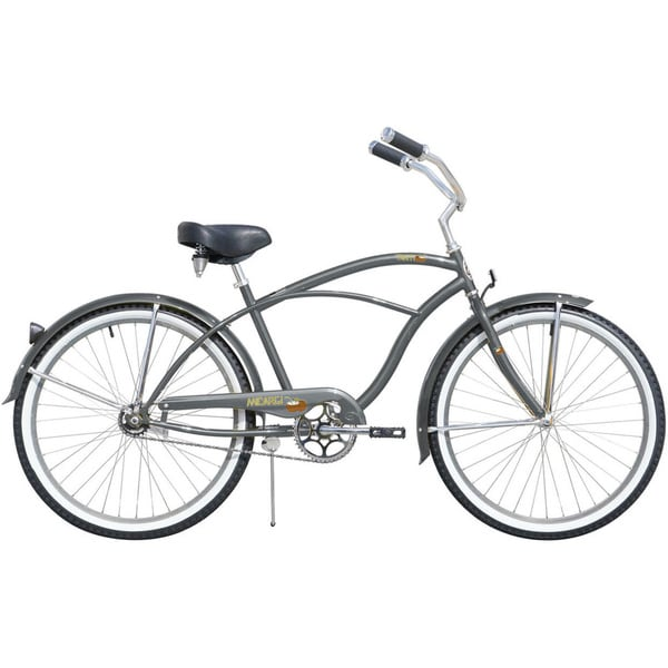Micargi Tahiti 26-inch Men's Grey & Alloy Rims Beach Cruiser