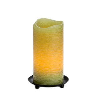 "6"" Rustic Wax Pillar, Bamboo"