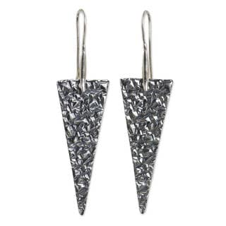 Handcrafted Sterling Silver 'Audacious' Earrings (Thailand)