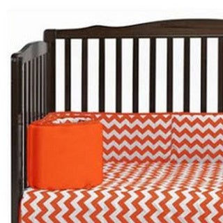 Baby Doll Neutral Chevron Crib Bumper