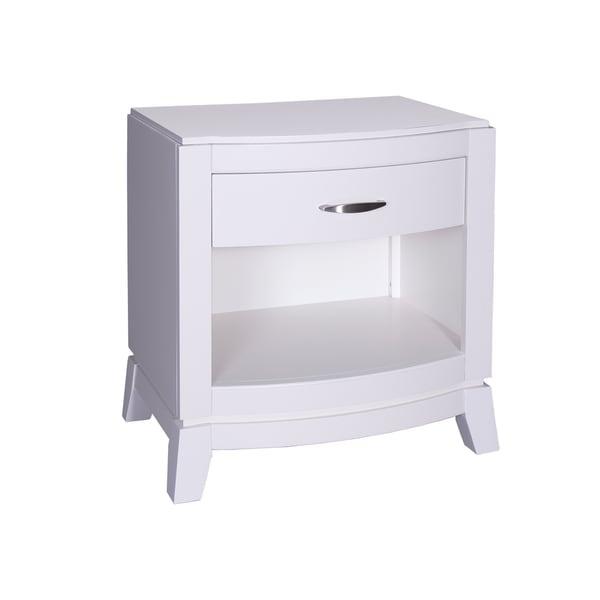 Avalon II White Truffle Nightstand