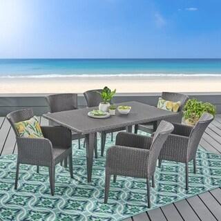 Christopher Knight Home Anaya Outdoor 7-piece Wicker Dining Set