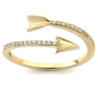 Diamonds For a Cure 14k Gold 1/10ct TDW Diamond Arrow Ring (H-I, SI1S12)