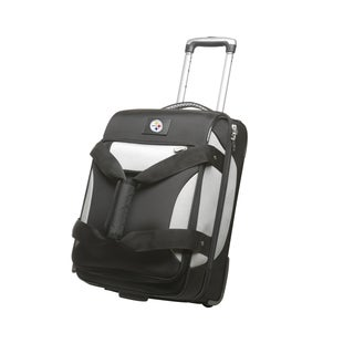 Denco Sports Cooperstown NFL Pittsburgh Steelers 22-inch Carry On Drop Bottom Upright Duffel Bag