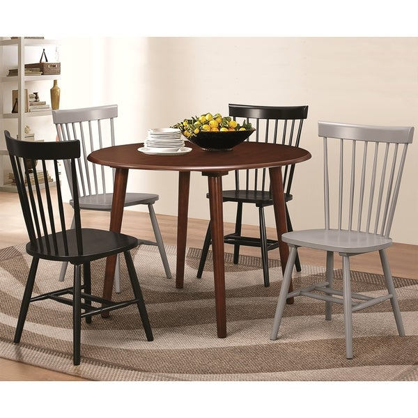 Tango Round Danish Design Spindle Back 5-piece Dining Set