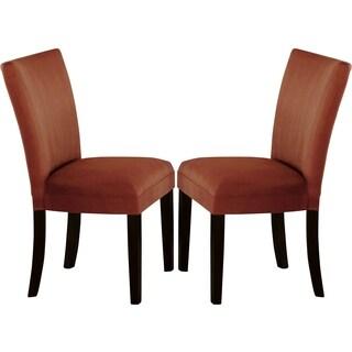 Sapphire Contemporary Microfiber Terracotta Parson Chairs (Set of 2)