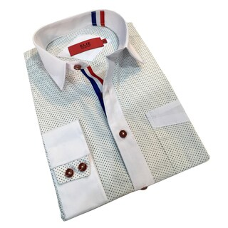 Elie Balleh Boy's 'Milano Italy' Polka-Dot Slim Fit Shirt