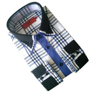 Elie Balleh Boy's 'Milano Italy 2015' Plaid Slim Fit Shirt