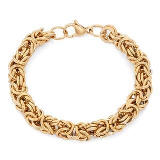 Gioelli Goldplated Stainless Steel Byzantine Bracelet
