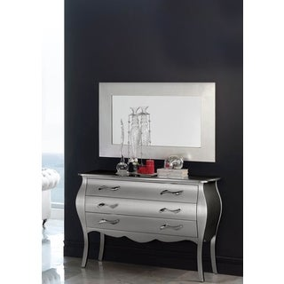 Luca Home Silver Dresser and Mirror