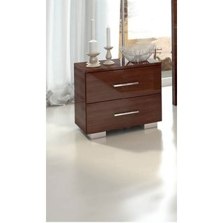 Luca Home Mahogany Two Drawer Nightstand