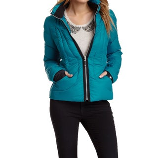 Halifax Traders Women's Turqoise Blue Down Puffer Packable Jacket